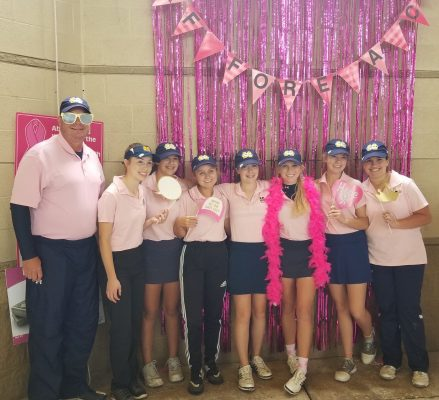 Golf Fore A Cure Pink Out Team Picture