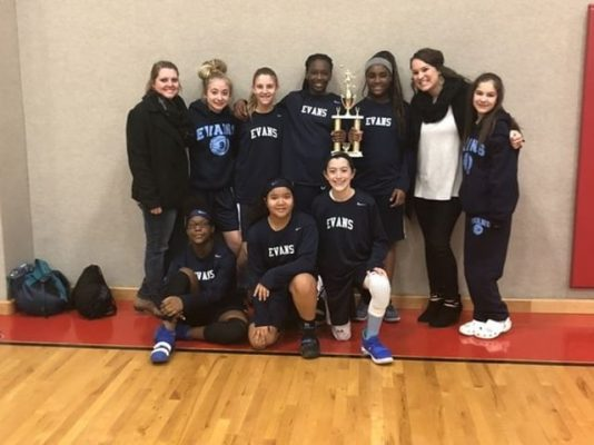 7th grade girls won 2nd place at the Collin County Hoopfest Tournament in Allen.