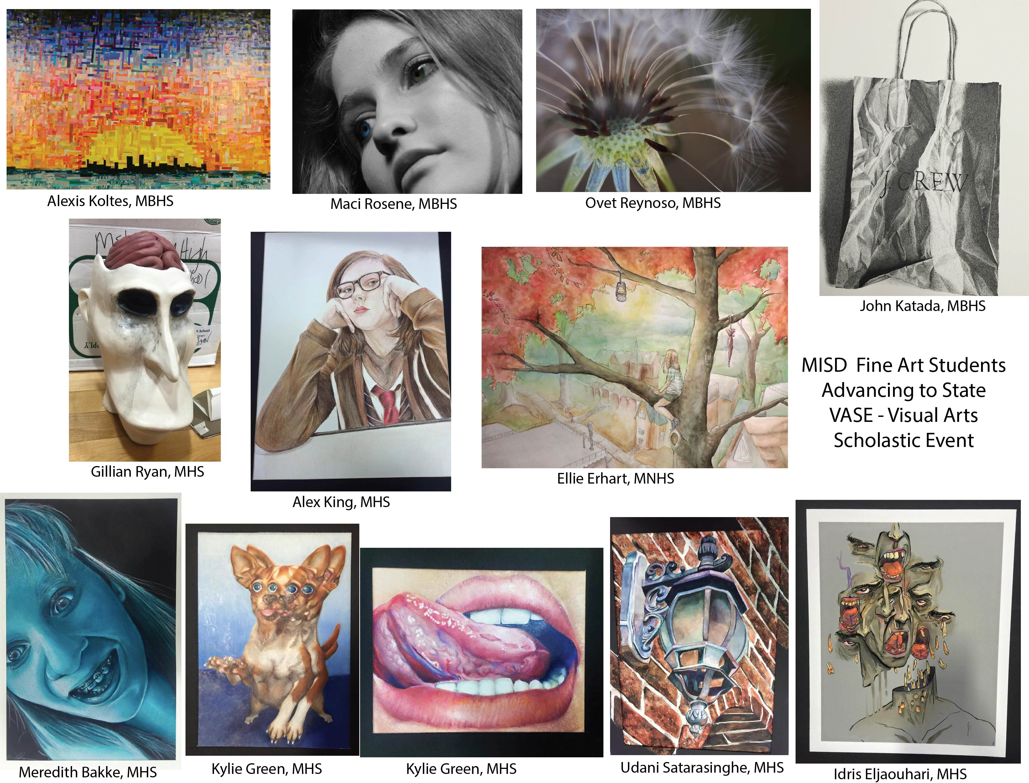 Misd high school artists advance to state vase competition vasestateentries reviewsmspy